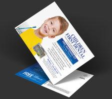 Postcard promoting pediatric dentistry